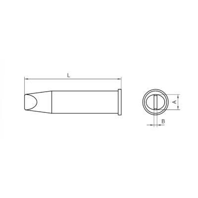 Weller XHT E forrasztócsúcs 7.6x1.5mm