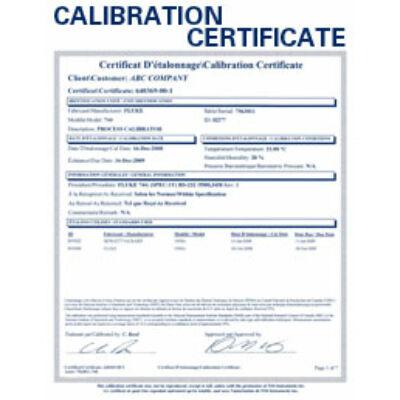 Kalibrálás - Folyamatkalibrátor ISO kalibrálás - B