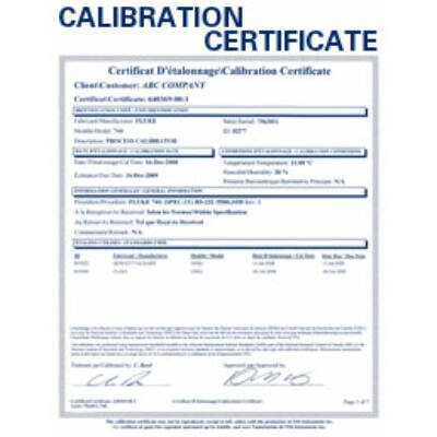 Kalibrálás - Multiméter ISO kalibrálás 6.5 digit - B