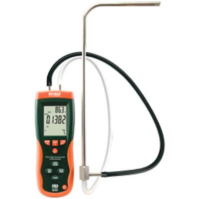 Extech HD350 Pitot csöves anemometer+differenciál manométer